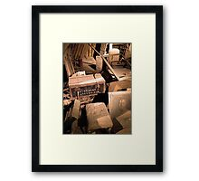 Attic Decay Framed Print