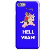 Cowboy Unicorn, White text iPhone Case/Skin