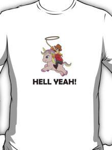 Cowboy Unicorn, Black text T-Shirt
