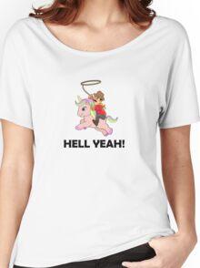 Cowboy Unicorn, Black text Women's Relaxed Fit T-Shirt