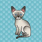 Lynx Point Siamese Cat by destei