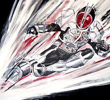 Kamen Rider Faiz Painting by JD-Designs