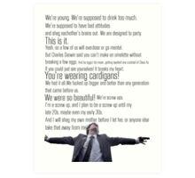 Nathan's Speech Art Print