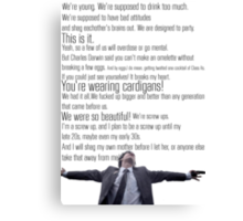 Nathan's Speech Canvas Print