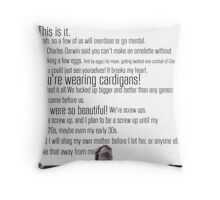 Nathan's Speech Throw Pillow