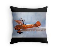 Breitling Wingwalking Team's Stearman Throw Pillow
