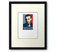 Doctor Who Chris Eccleston Barack Obama Hope style poster Framed Print