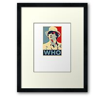 Doctor Who Peter Davison Barack Obama Hope style poster Framed Print