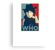 Doctor Who Tom Baker Barack Obama Hope style poster Canvas Print