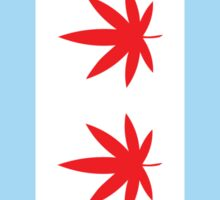 Chicago Marijuana Flag Sticker