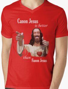 Canon Jesus Mens V-Neck T-Shirt