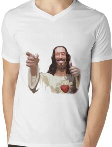 Canon Jesus Mens V-Neck T-Shirt