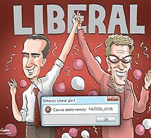 Dalton McGuinty and Kathleen Wynne by MacKaycartoons