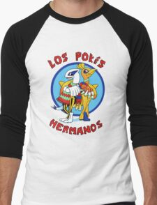 Los Pokés Hermanos Men's Baseball ¾ T-Shirt