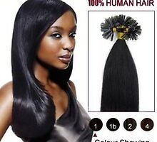 Cheap Jet Black 20 Inch Nail Tip Human Hair Extensions 100S On Sale by foxanddog
