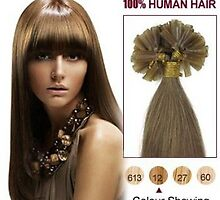 Hot Sale Golden Brown 20 Inch Nail Tip Human Hair Extensions 100S For Sale by foxanddog