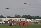 The Red Duo Formation Team - Dunsfold 2013 by Colin J Williams Photography