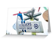 Toy Soldiers Plane Greeting Card