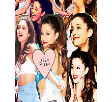 WUTEVA/TEEN QUEEN COLLAGE ARIANA GRANDE IPHONE CASE by DopeDesigns