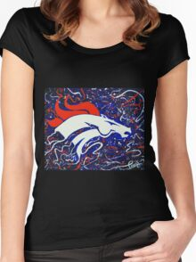 Denver Bronco Women's Fitted Scoop T-Shirt