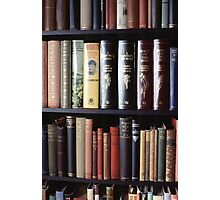 Books on a bookshelf Photographic Print