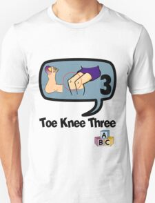Toe Knee Three - make next election count. T-Shirt