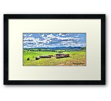 Maffra Countryside  Framed Print