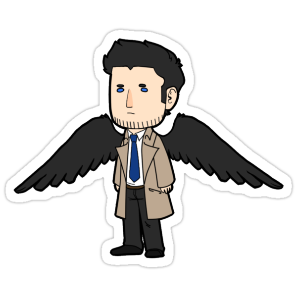 Castiel Sticker by Cookiecutter60