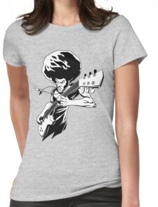 Afro Rock Guitarist Womens Fitted T-Shirt