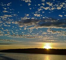 San Juan Island Sunset by Tom Vaughan