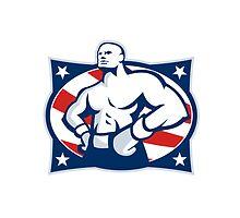 Champion American Boxer Akimbo Retro by patrimonio