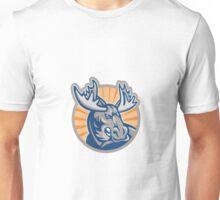 Angry Moose Mascot Retro Unisex T-Shirt
