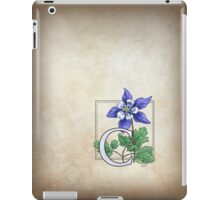 C is for Columbine - full image iPad Case/Skin
