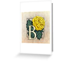 B is for Begonia - full image Greeting Card