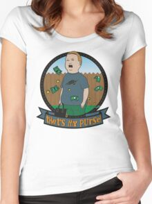 King of the Hill Inspired - Bobby Hill Self-Defense - That's My Purse - Bobby Hill Parody Women's Fitted Scoop T-Shirt