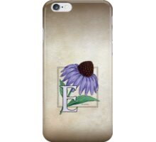 E is for Echinacea iPhone Case/Skin