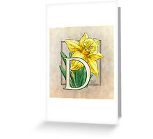 D is for Daffodil - full image Greeting Card