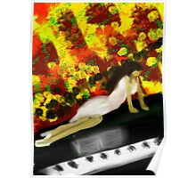 Girl on Piano Poster