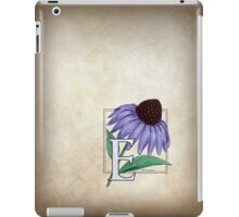 E is for Echinacea - full image iPad Case/Skin