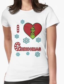 Merry Merry Grinchmas Womens Fitted T-Shirt