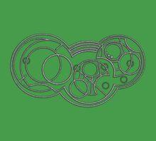 The Weeping Angels- Circular Gallifreyan Kids Clothes
