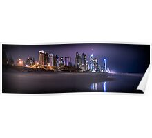 Surfers Paradise by night. Poster