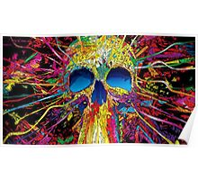 Colorful Skull Poster