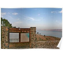 Lookout point to the Kineret Poster