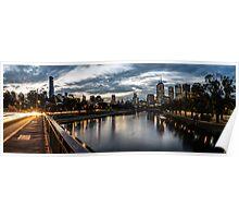 Melbourne at Dusk Poster