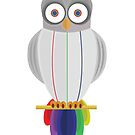 Rainbow Owl by Adamzworld