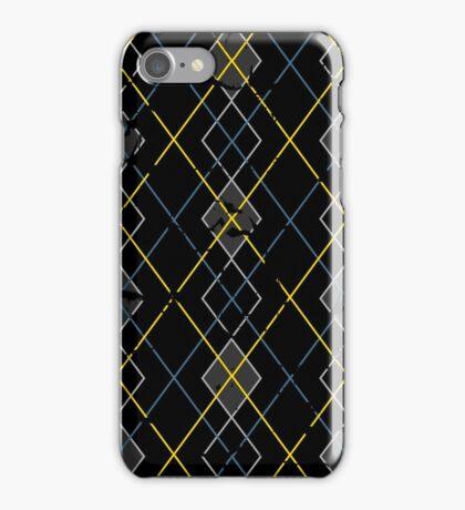 Argyle Blue/Grey iPhone Case/Skin