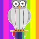 Rainbow Owl (Rainbow) by Adamzworld