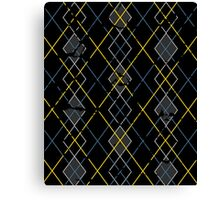 Argyle Blue/Grey Canvas Print