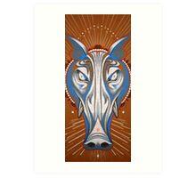 blue boar totem. Art Print